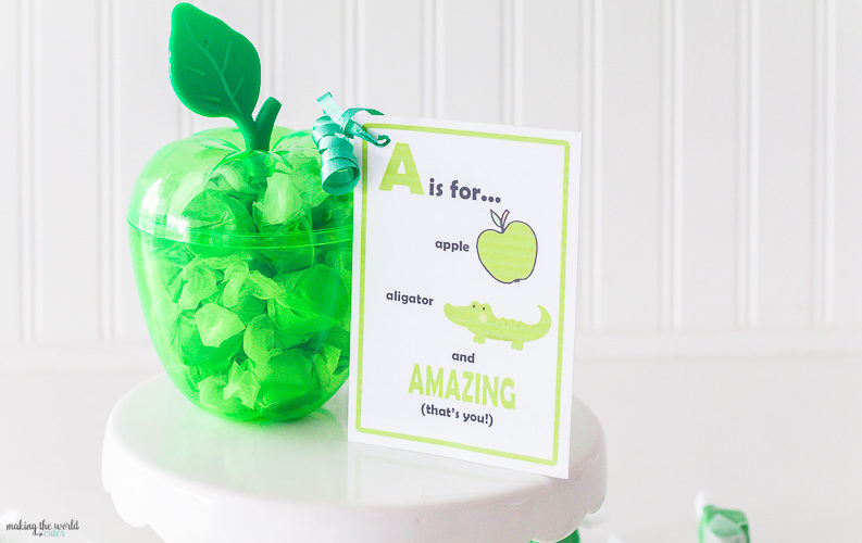 Apple Teacher Appreciation Gift Tags to Print