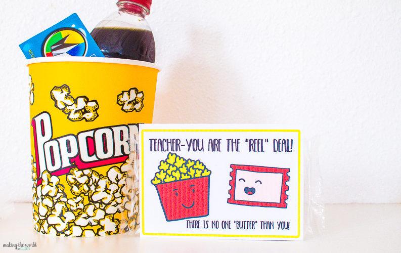 Movie Teacher Appreciation Ideas Free Printable Tag