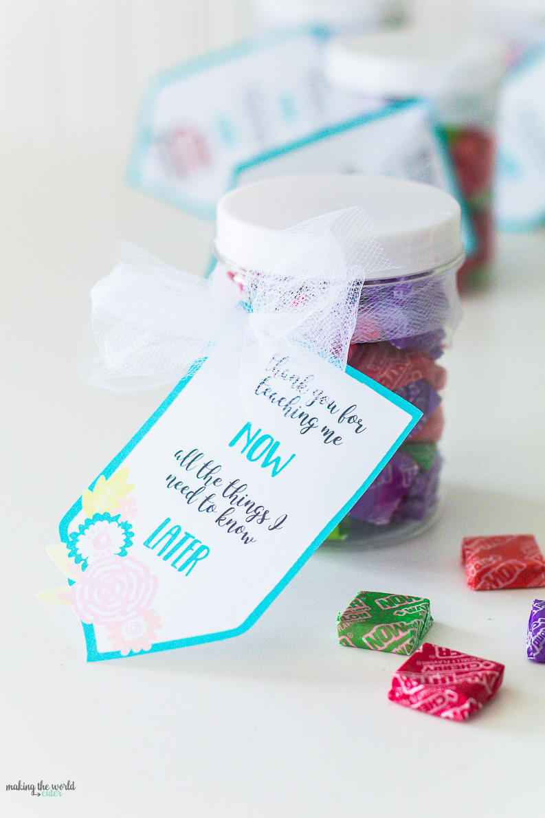 Now and Later Candy Teacher Appreciation Gift Tags