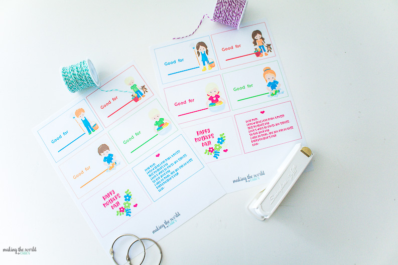 mothers day coupon book free printable gift idea