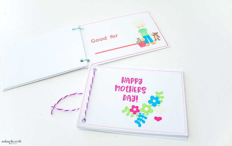 Darling Mother's Day Coupon Book Free Printable