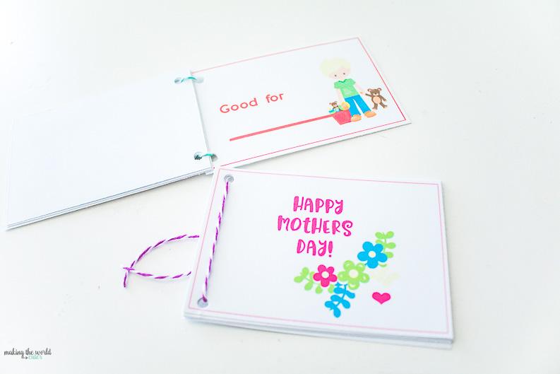 How to make a homemade coupon book for mom