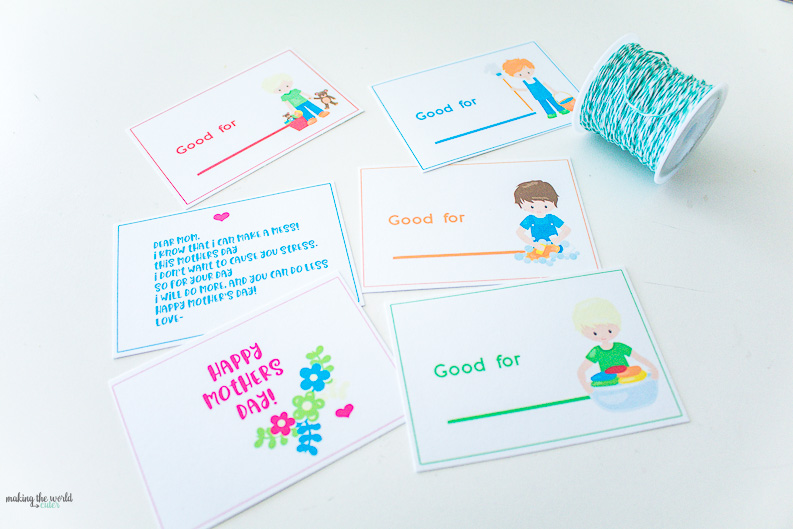 mothers day coupon book one page printable, sooo cute!
