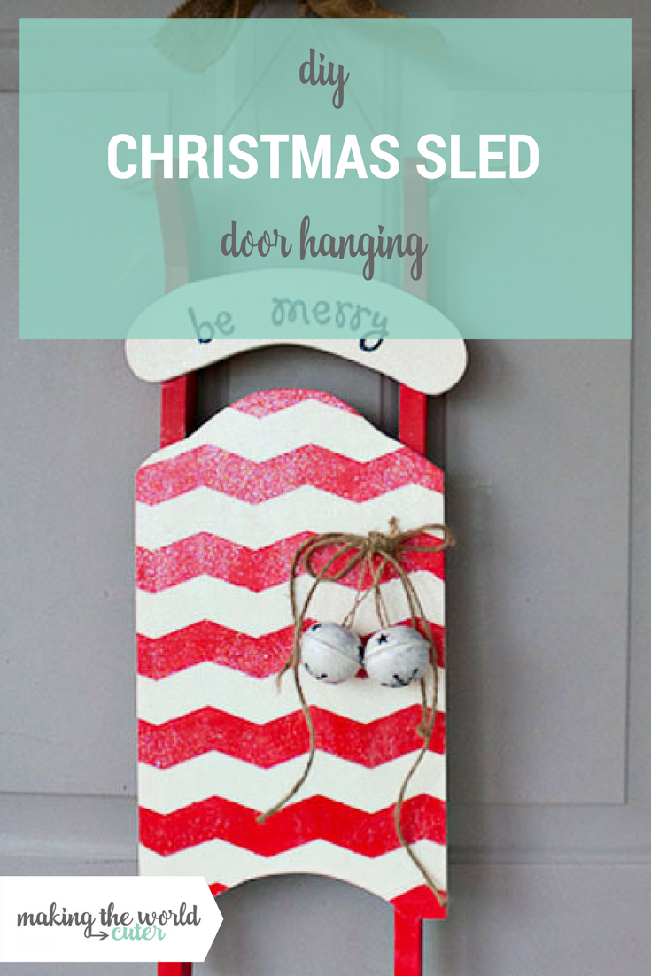 Christmas Sled Decoration Door Hanging