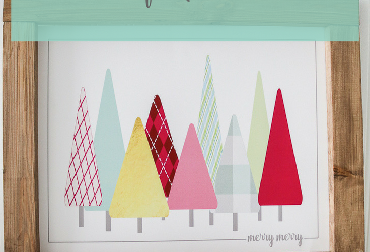 Free Christmas Tree Print to Frame at Home