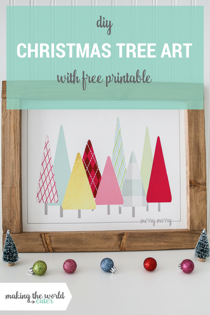 Make a BIG Christmas Tree print and frame and get the matching Christmas cards to go with them for FREE! So much modern Christmas cuteness!