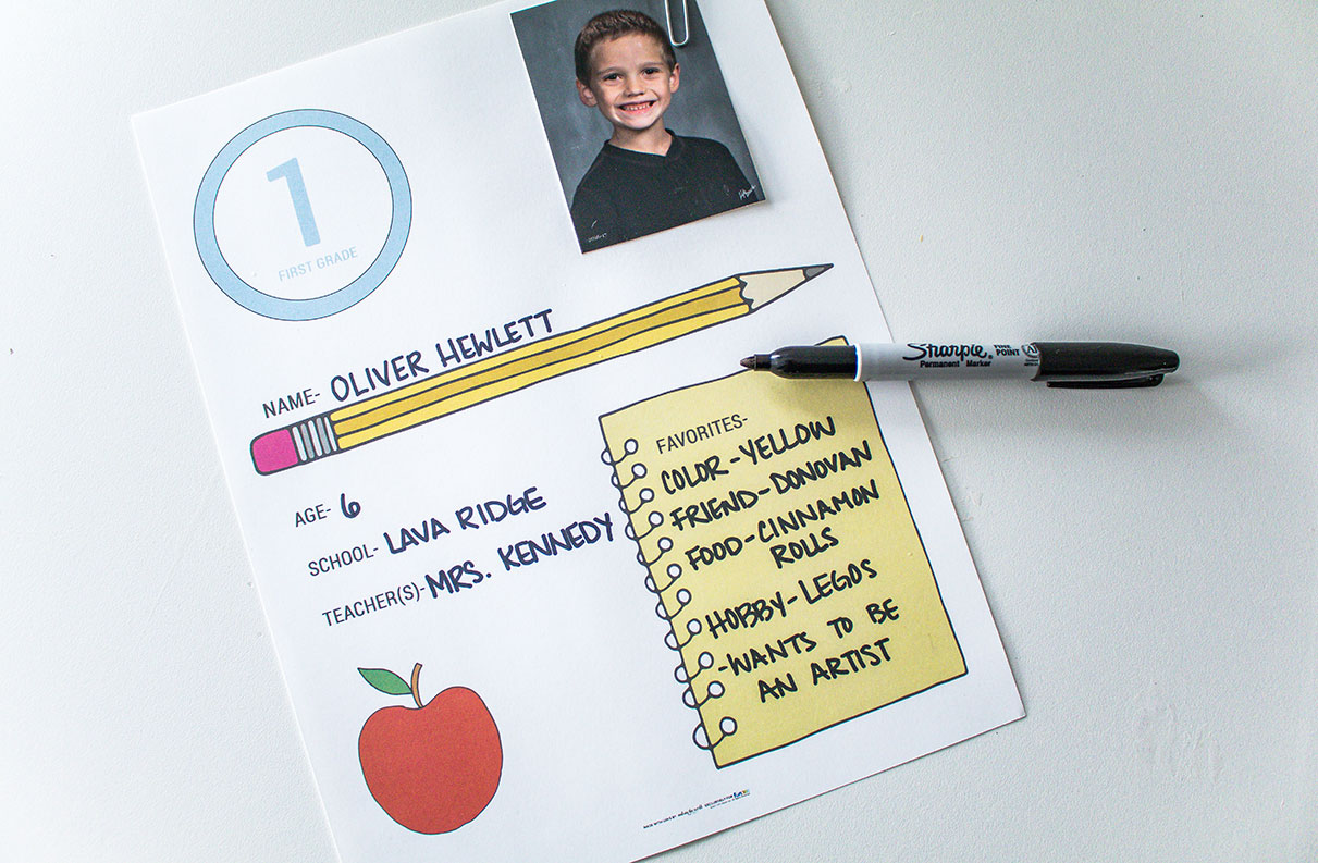 How to organize school papers free printable to put with each year