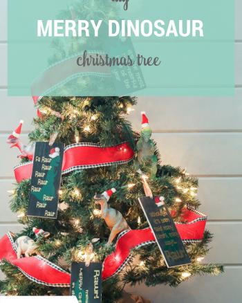 Dinosaur Christmas Ornaments and Tree