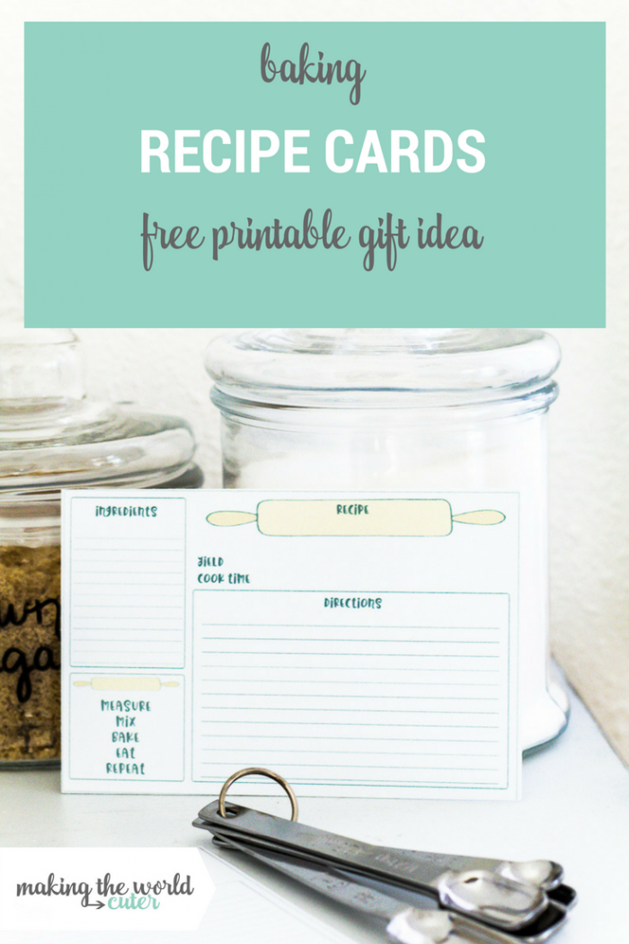 Free Printable Baking Recipe Cards