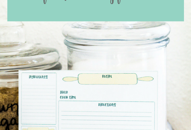 Baking Recipe Cards Free Printable Gift Idea
