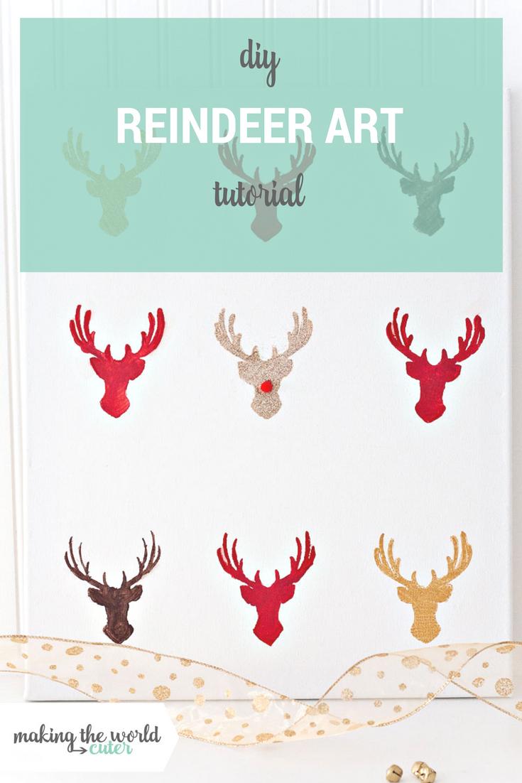 DIY Santas Reindeer Art
