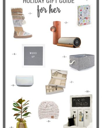 Holiday Gift Guide 2017 For Her- Lots of fun gifts for the ladies in your life or to put on your own wishlist.