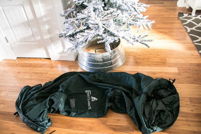 Storage bag for Christmas Tree, How to transition from Christmas to Winter