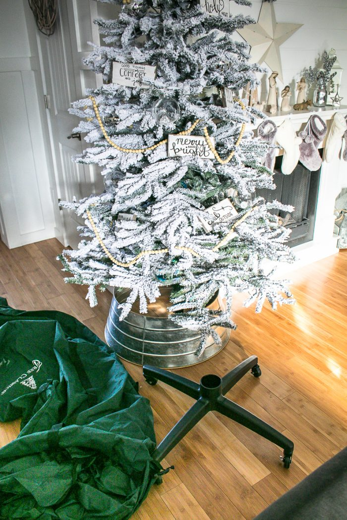 Rolling Storage bag for Christmas Tree, How to transition from Christmas to Winter