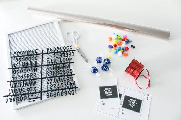 Letter board gift idea supplies
