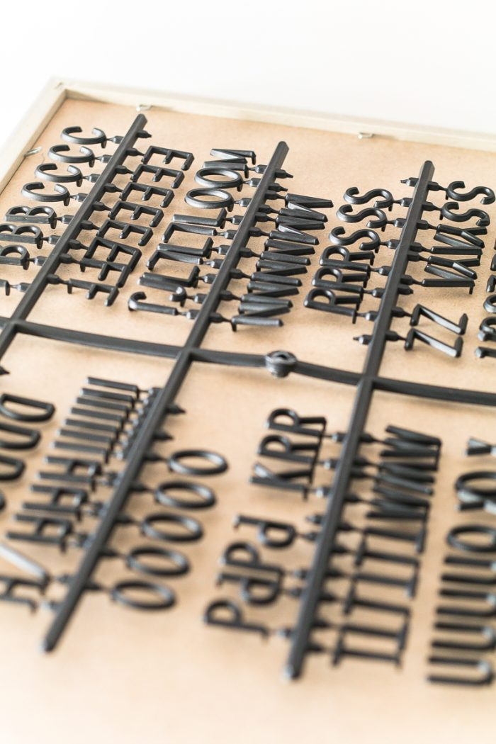 Letter Board gift idea how to give it in a cute way