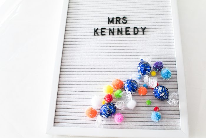 letter board gift ideas wrapping for cuteness
