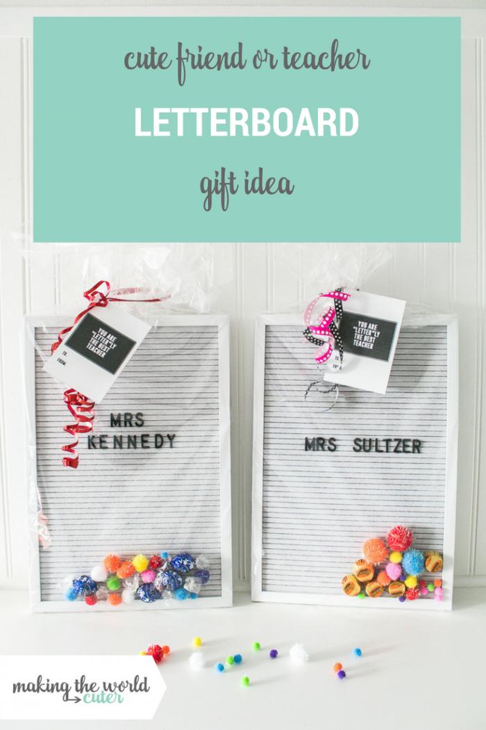 Letter Board Gift Idea for Teacher Appreciation or Friend Gift