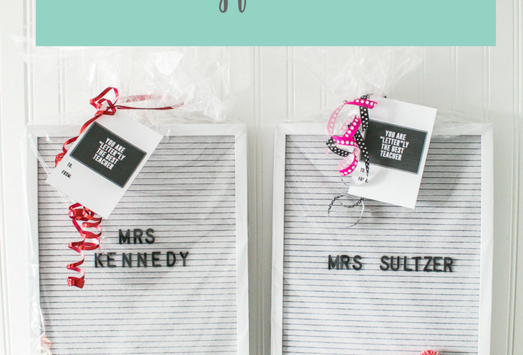 Letter Board Gift Idea with Free Printable Tag