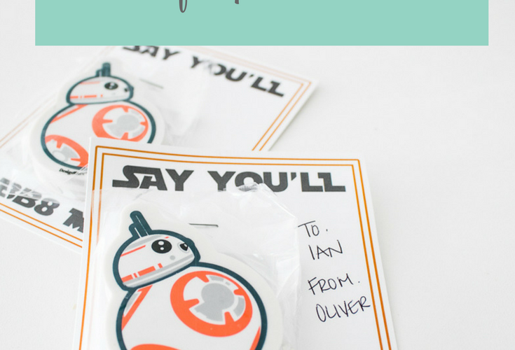 Star Wars BB8 Mine Valentine Printable Cards