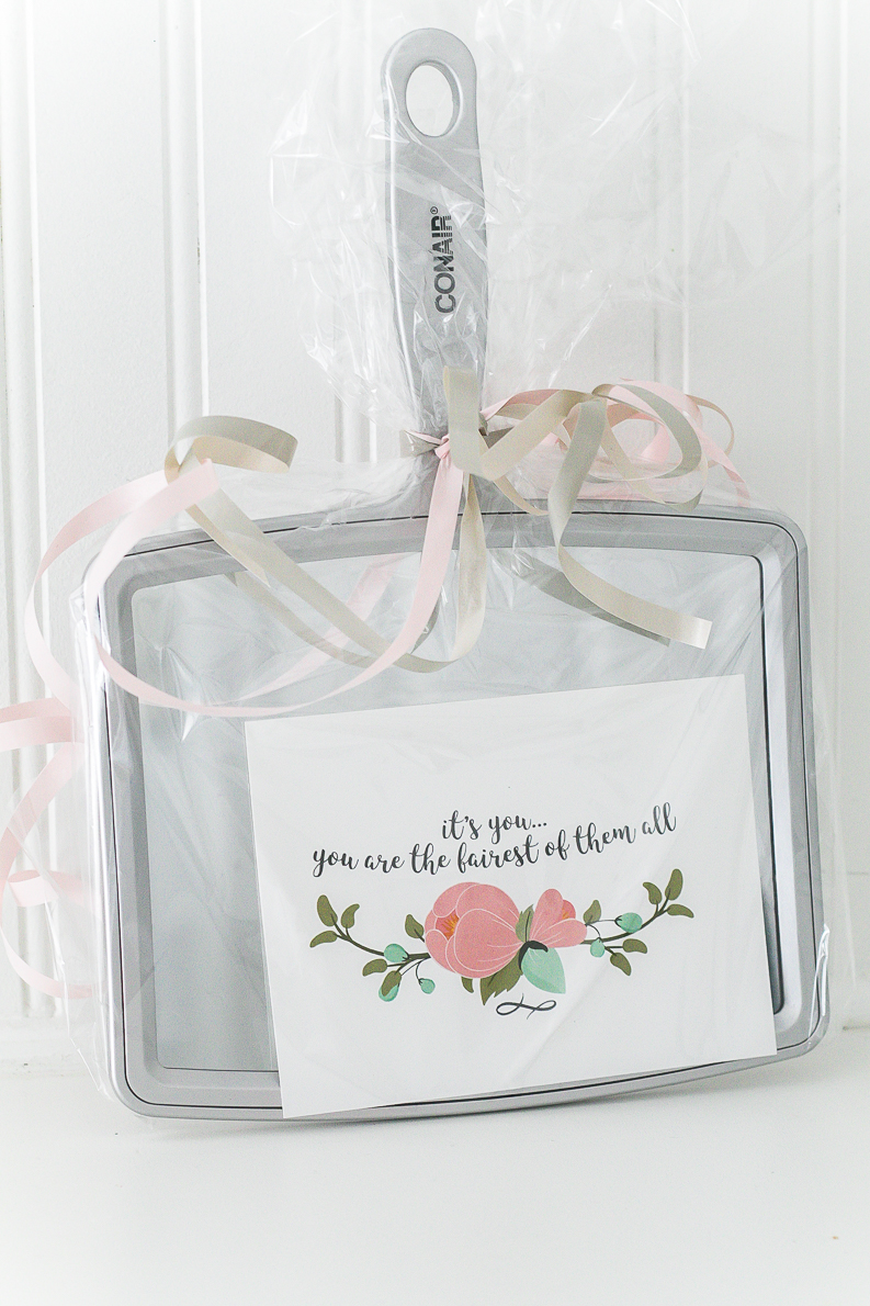 You're the fairest one of all mirror beauty gift ideas and free printable card