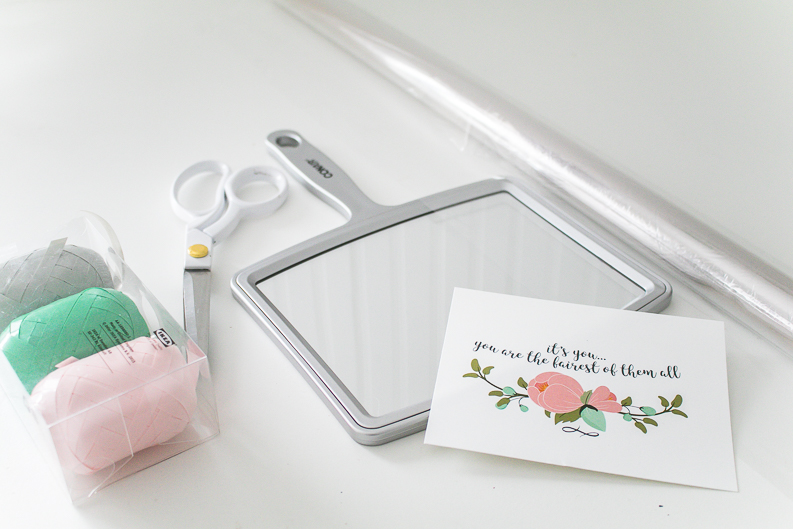 How to wrap a mirror for beauty gift ideas