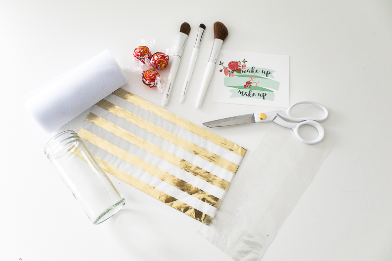 Wrapping supplies for beauty gift ideas