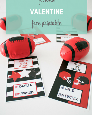 Football Valentine Cards
