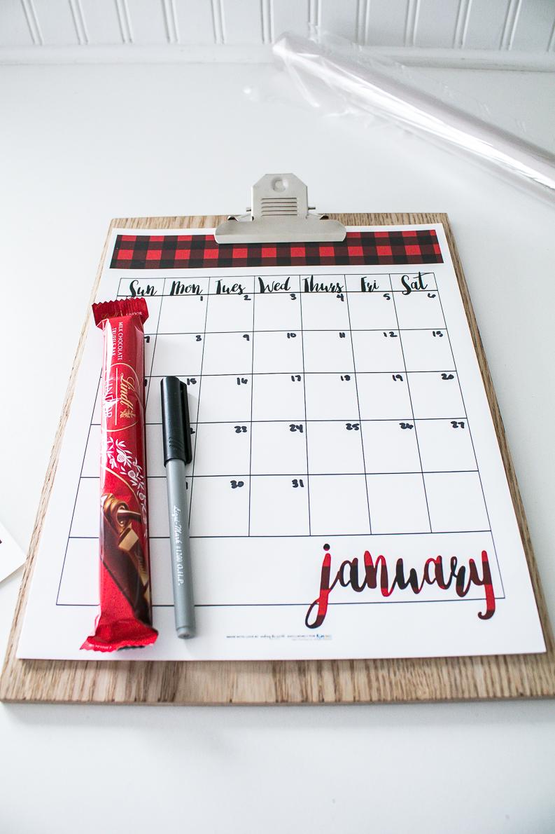 free calendar printable for love you 365 gift idea
