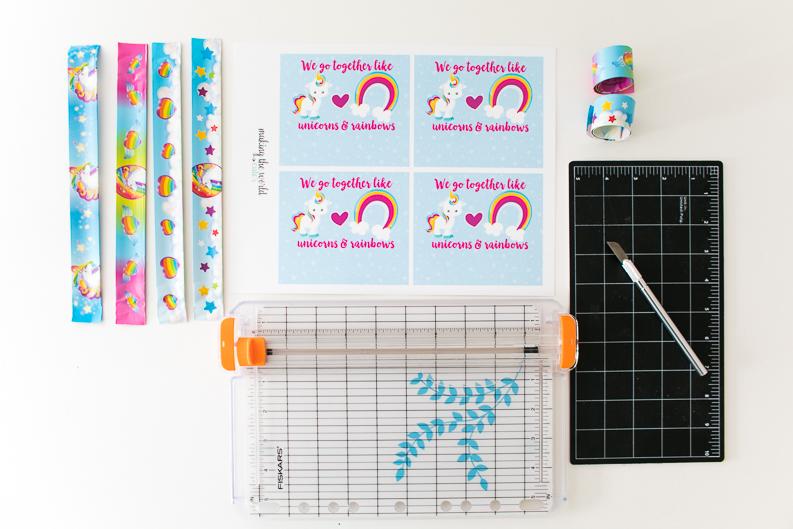 Unicorn Valentine Slap Bracelet Free Printable