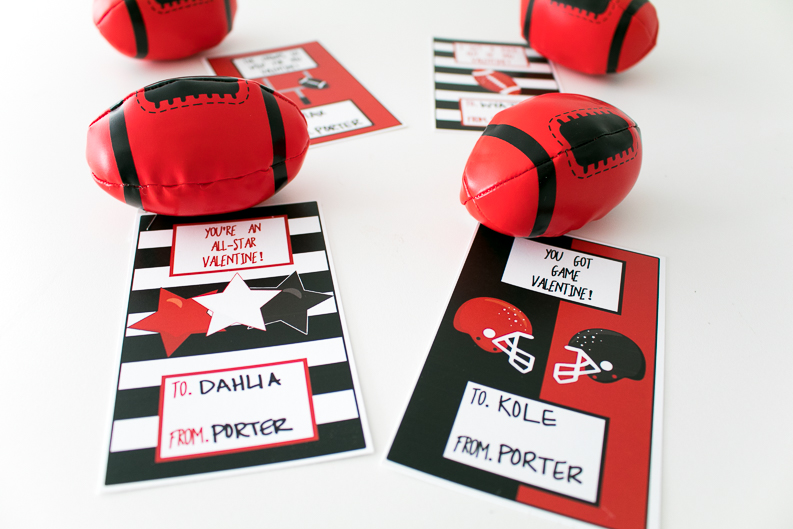Football Valentine Cards