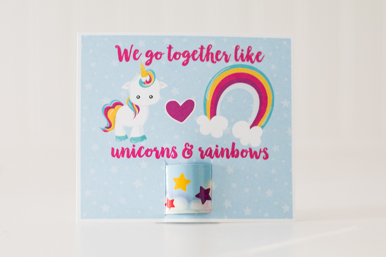 picture about Free Printable Unicorn Valentines referred to as Unicorn Valentine Working day Playing cards toward Print for Slap Bracelets