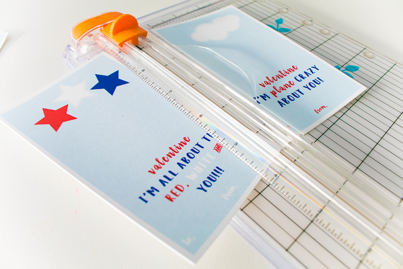 paper trimmer with plane valentine printable