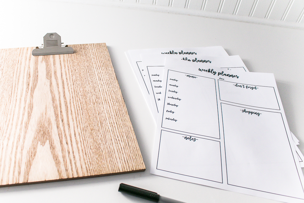Weekly Planner Free Printable and Clipboard