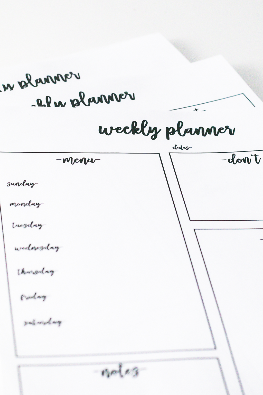 Weekly Planner Free Printable for Command Center
