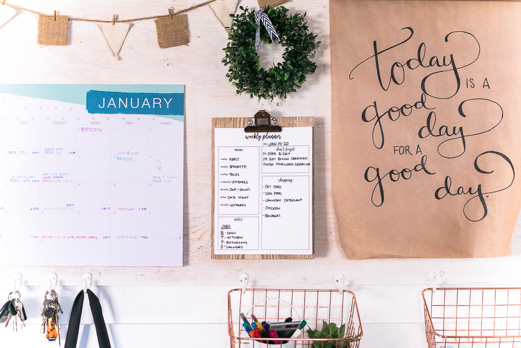 DIY Family Command Center with Weekly Planner Free Printable