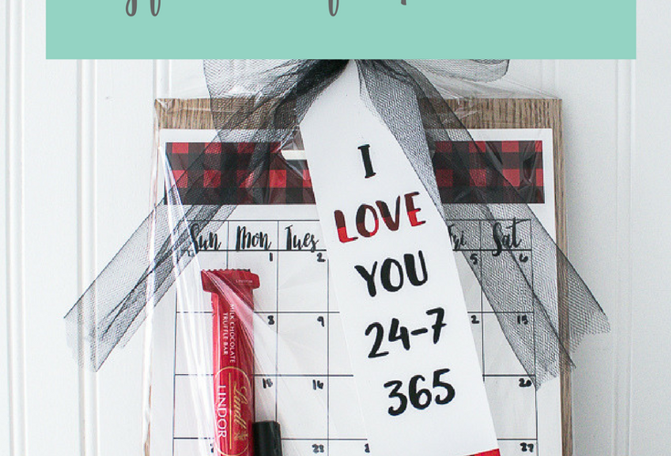 Love You 365 Gift Idea with Free Printable Gift Tag and Calendar