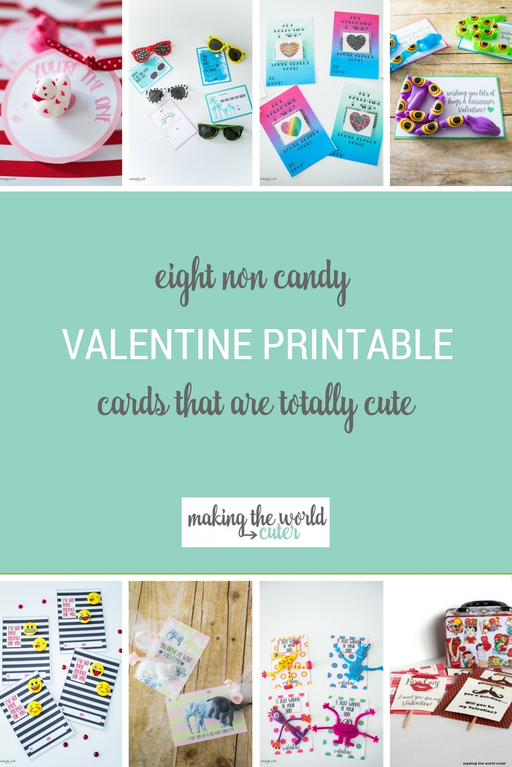 8 Totally Cute Non Candy Valentines Printable Cards for Kids, Preschool, and Classrooms