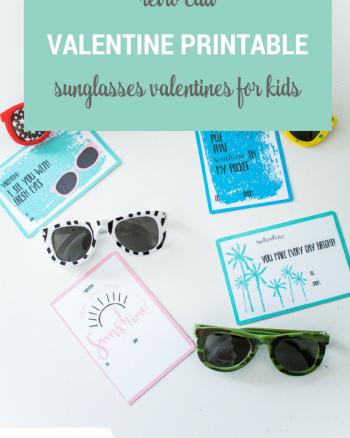 Retro Cali Valentine Printables to give with kids sunglasses!
