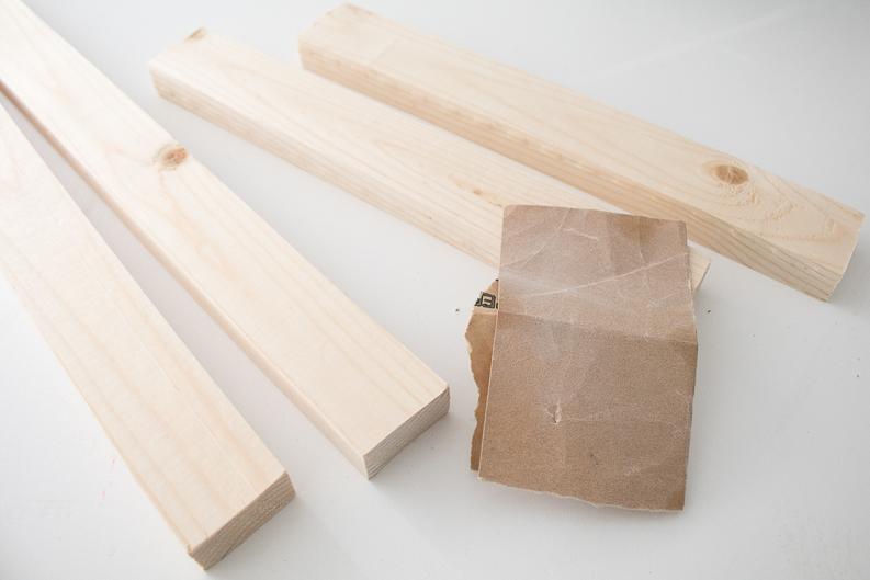 wood and sandpaper for Music Lyrics Print frame