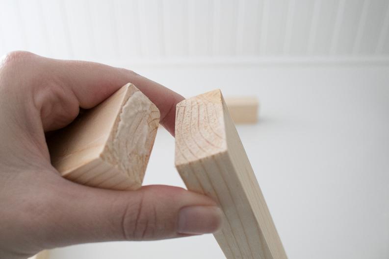 Wood with wood glue for Music Lyrics Print frame