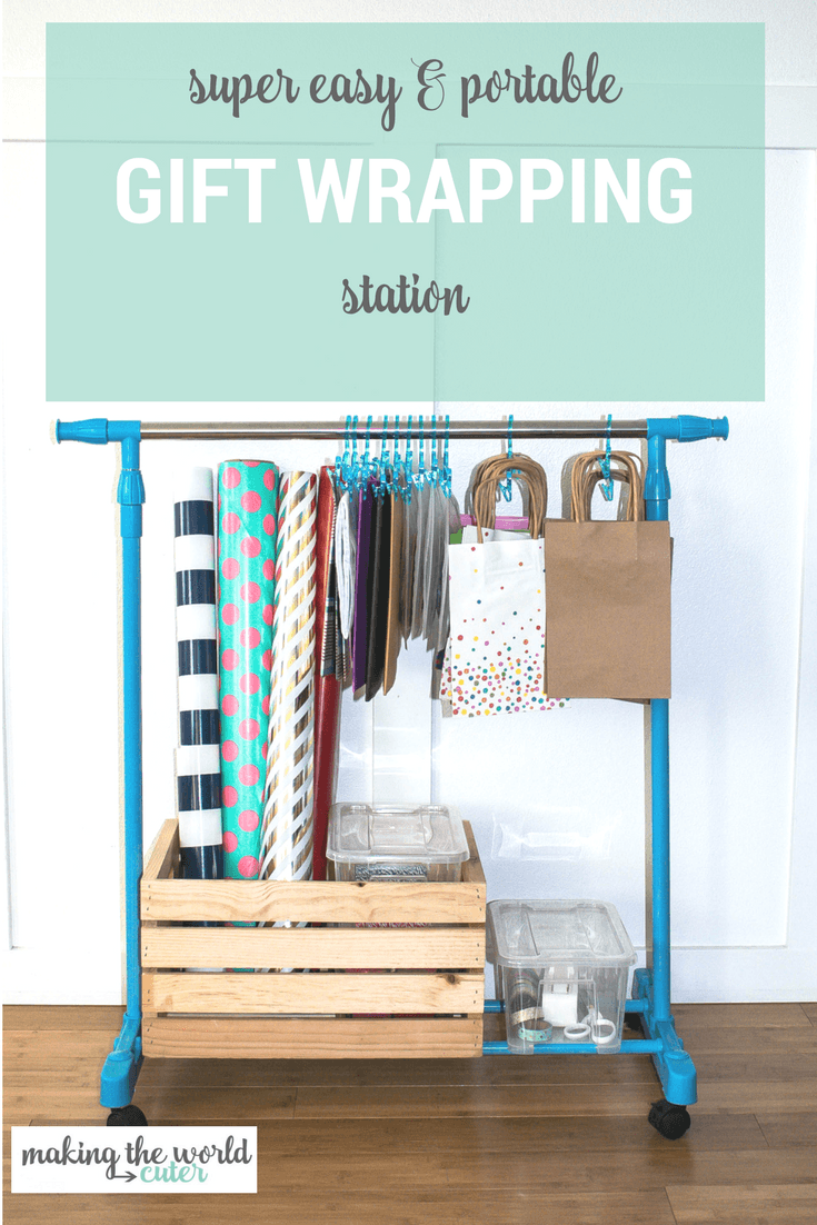 Portable Organized Gift Wrapping Storage Station