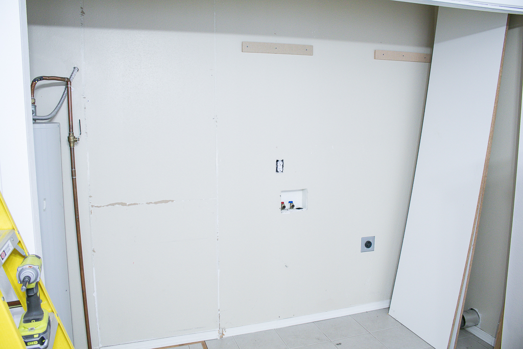 Empty Laundry Room Closet Before Remodel