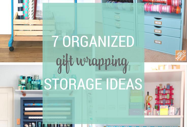 7 Organized Gift Wrapping Storage Ideas