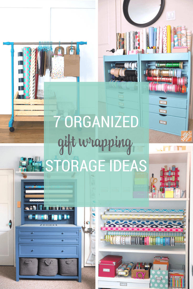 7 Organized Gift Wrapping Storage Ideas
