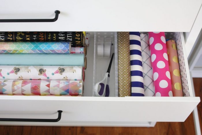 Organized Gift Wrap Ideas