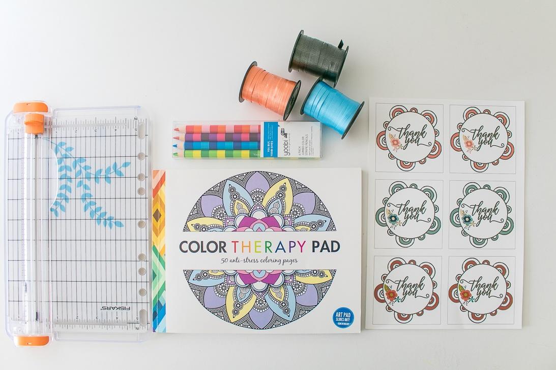 Coloring Book Gift Idea Supplies