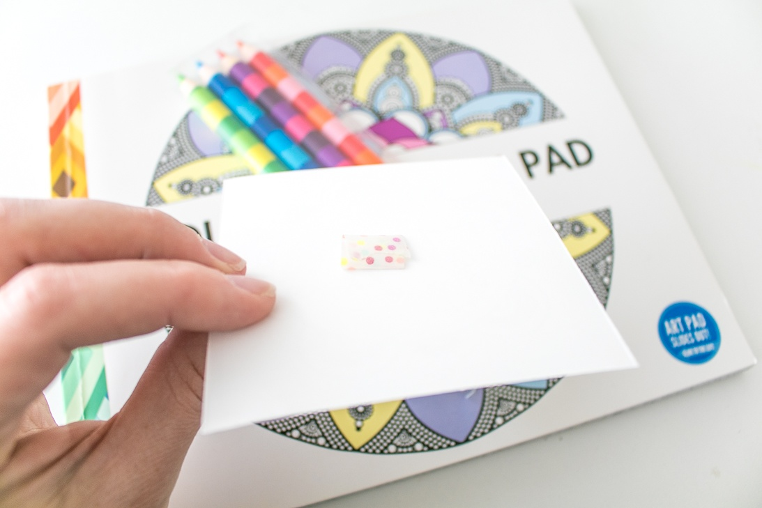 Attaching a Gift Tag with Washi Tape