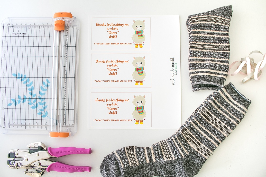 Llama Teacher Appreciation Gift Idea Supplies