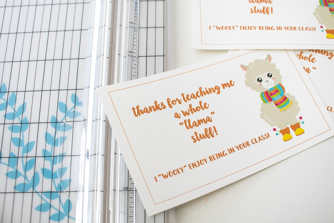Llama Teacher Appreciation Gift Idea free printable gift tags